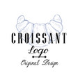 croissant logo original design retro emblem for vector image vector image