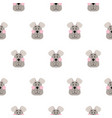 cute dog seamless pattern cartoon design vector image vector image