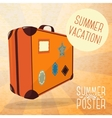 Cute summer poster - journey suitcase with labels vector image vector image