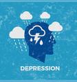 depression concept vector image