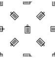document plan pattern seamless black vector image vector image