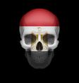 Egyptian flag skull vector image