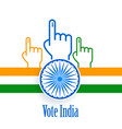 election and vote india concept poster design vector image vector image