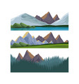 elements of landscape vector image