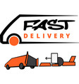 fast delivery icon on white background vector image