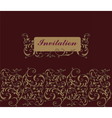 Floral Invitation card Classic royal style vector image vector image