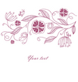 florals back vector image vector image
