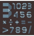 Font from bluish scotch tape - Arabic numerals vector image vector image