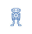 future robot line icon concept future robot flat vector image vector image