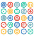 gear icons set on color circles background for vector image