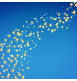 golden star flowing background vector image vector image