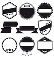 Grunge labels and stamps vector image