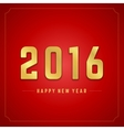 Happy New Year 2016 3d background vector image vector image
