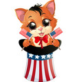 happy presidents day kitten vector image vector image