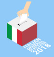 italian general election 2018 vector image vector image