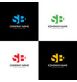 letter sb logo icon flat vector image vector image