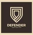 line shield logotype three outline defense icon vector image vector image
