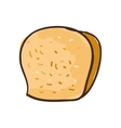 loaf bakery product vector image vector image