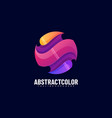 logo abstract color gradient colorful style vector image