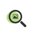 magnifying glass looking for images isolated web vector image