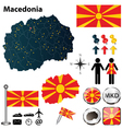 Map of Macedonia vector image vector image