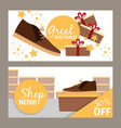 men winter shoe store flyers vector image