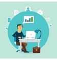 office worker thinks schedule vector image vector image