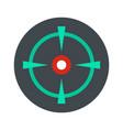 old gun aim icon flat style vector image vector image