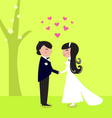 outdoor wedding couple vector image vector image
