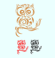 owl ornate vector image vector image