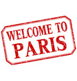 Paris - welcome red vintage isolated label vector image vector image