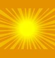 pop art orange background vector image vector image