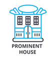 prominent house thin line icon sign symbol vector image vector image