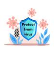 protect from corona virus covid-19 virus vector image vector image