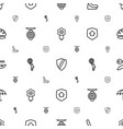 protect icons pattern seamless white background vector image vector image