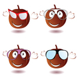 pumpkin with glasses vector image vector image