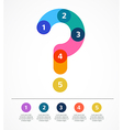 Question mark abstract background infographic vector image vector image