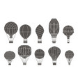 retro flight aerostat air balloon travel basket vector image