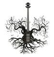 retro guitar tree vector image vector image