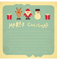 Retro Merry Christmas Card vector image vector image