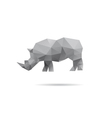 Rhino isolated on a white backgrounds vector image vector image