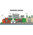 richmond virginia city skyline architecture vector image vector image