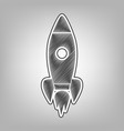 rocket sign pencil sketch vector image vector image