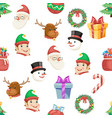 seamless christmas new year winter holiday xmas vector image
