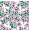 Seamless pattern with butterfly vector image vector image