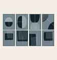 set abstract creative minimalist art vector image