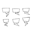 set hand-drawn origami banners vector image vector image