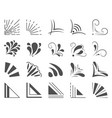 set of 20 hand drawn corners and design elements vector image