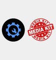 setup tools icon and scratched media kit vector image vector image