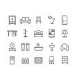 simple set of furniture thin line icons vector image